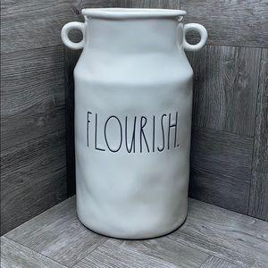 Rae Dunn FLOURISH large farmhouse vase NEW